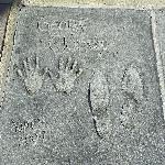 George Clooney cast his feet and hands in the Grauman's Chi
